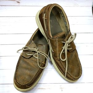 Margaritaville gulf stream distressed boat shoes
